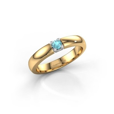 Engagement ring Rianne 1 585 gold blue topaz 3 mm