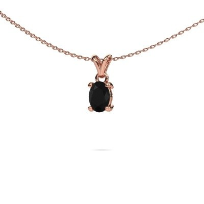 Foto van Ketting Lucy 1 375 rosé goud zwarte diamant 0.96 crt