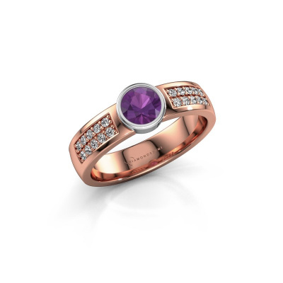 Engagement ring Ise 3 585 rose gold amethyst 4.7 mm