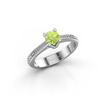 Picture of Engagement ring Mei 925 silver peridot 4.7 mm