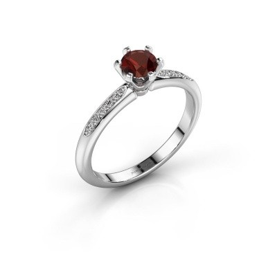 Picture of Engagement ring Tiffy 2 950 platinum garnet 4.7 mm
