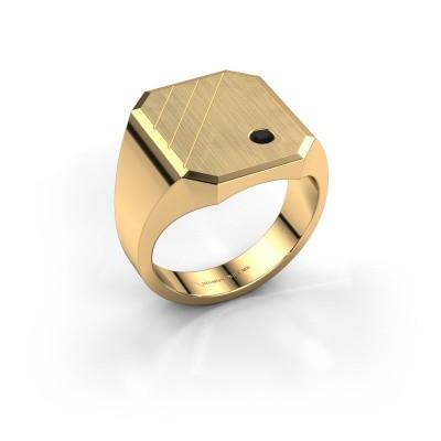 Foto van Zegelring Patrick 5 585 goud zwarte diamant 0.072 crt