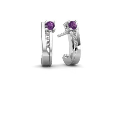 Picture of Earrings Jewell 950 platinum amethyst 2.7 mm