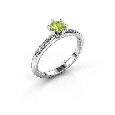 Picture of Engagement ring Tiffy 2 925 silver peridot 4.7 mm