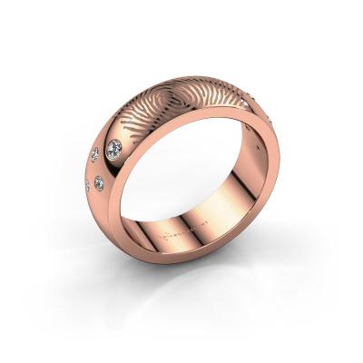 Foto van Ring Minke 585 rosé goud diamant 0.135 crt