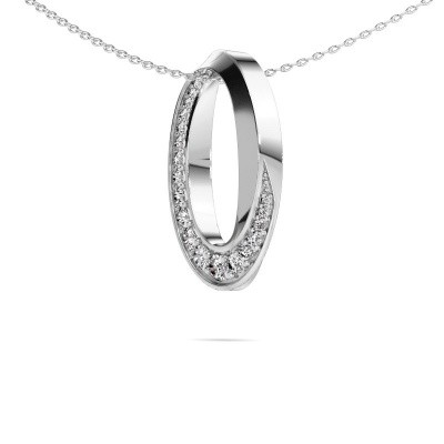 Foto van Ketting Zola 585 witgoud lab-grown diamant 0.531 crt