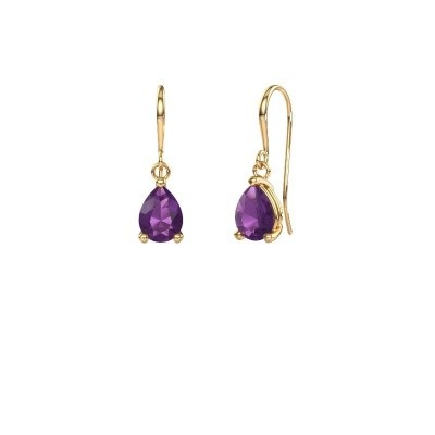 Picture of Drop earrings Laurie 1 585 gold amethyst 8x5 mm