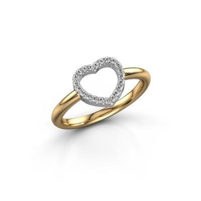 Foto van Ring Heart 7 585 goud zirkonia 1 mm