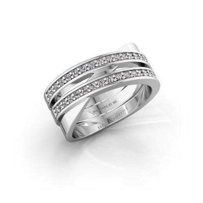 Ring Margje 950 platina zirkonia 1.3 mm