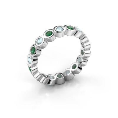 Foto van Aanschuifring Edwina 2 925 zilver smaragd 2.5 mm