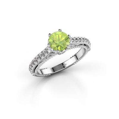 Engagement ring Venita 585 white gold peridot 6.5 mm