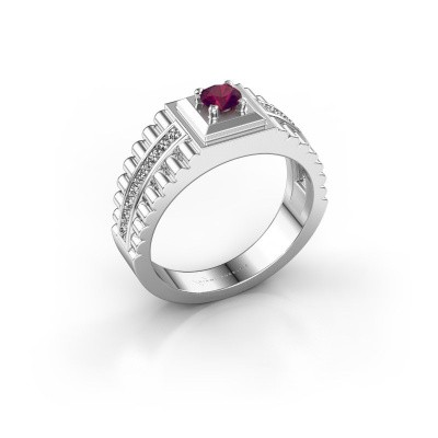 Foto van Rolex stijl ring Maikel 925 zilver rhodoliet 4.2 mm