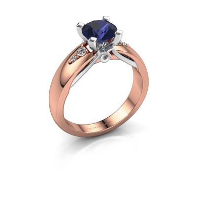 Engagement ring Ize 585 rose gold sapphire 6.5 mm