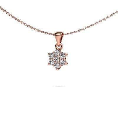 Ketting Chantal 375 rosé goud lab-grown diamant 0.385 crt