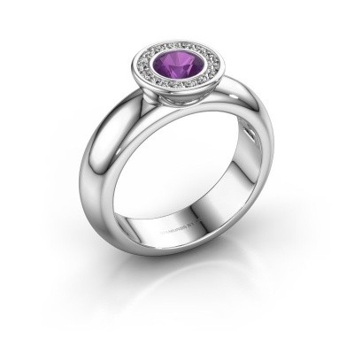 Picture of Stacking ring Anna 925 silver amethyst 5 mm