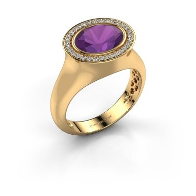 Ring Phebe 585 Gold Amethyst 10x8 mm