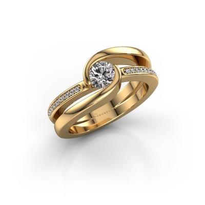 Foto van Ring Xenia 2 585 goud zirkonia 5 mm