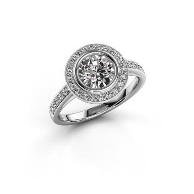 Verlovingsring Noud 2 RND 950 platina diamant 1.344 crt