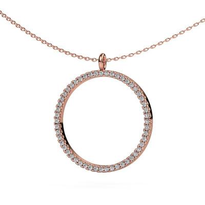 Foto van Hanger Towanda 375 rosé goud diamant 0.39 crt