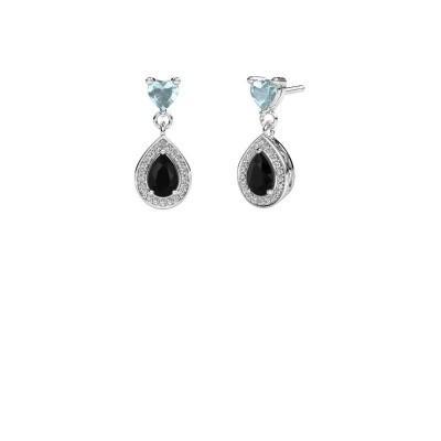 Foto van Oorhangers Susannah 950 platina zwarte diamant 1.69 crt