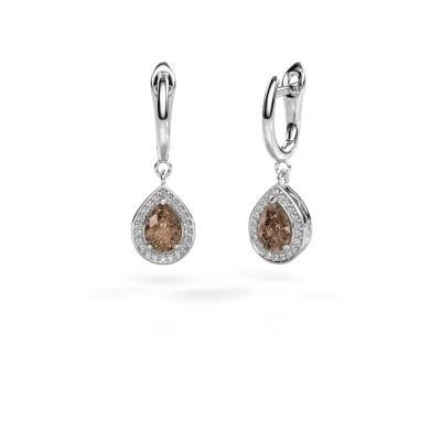 Foto van Oorhangers Ginger 1 950 platina bruine diamant 1.52 crt