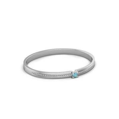 Armband Myrthe 585 witgoud blauw topaas 4 mm