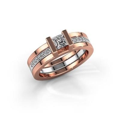 Foto van Ring Desire 585 rosé goud zirkonia 4 mm