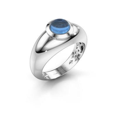 Bague Sharika 925 argent topaze bleue 6 mm
