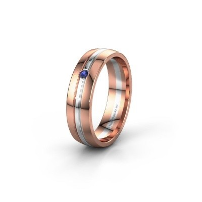 Wedding ring WH0420L25X 585 rose gold sapphire ±0.20x0.06 in