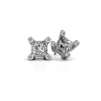 Foto van Oorstekers Cornelia Square 925 zilver lab-grown diamant 1.30 crt