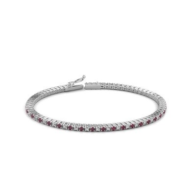 Tennis bracelet Simone 585 white gold rhodolite 2 mm