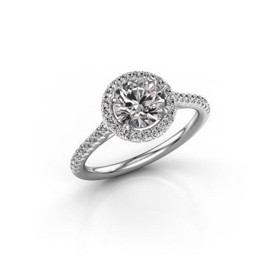 Engagement ring Marty 2 585 white gold diamond 1.360 crt