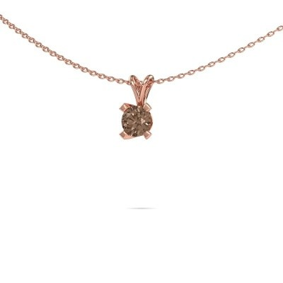 Foto van Hanger Eva 375 rosé goud bruine diamant 0.50 crt