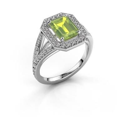 Promise ring Angelita EME 925 zilver peridoot 8x6 mm