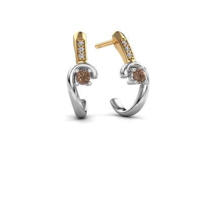 Earrings Ceylin 585 white gold brown diamond 0.16 crt