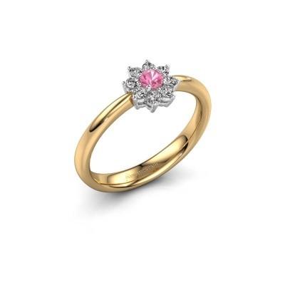 Foto van Verlovingsring Camille 1 585 goud roze saffier 3.4 mm