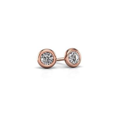 Oorstekers Lieke RND 375 rosé goud lab-grown diamant 0.50 crt