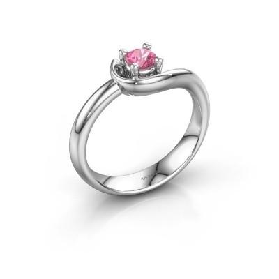 Ring Lot 585 Weißgold Pink Saphir 4 mm