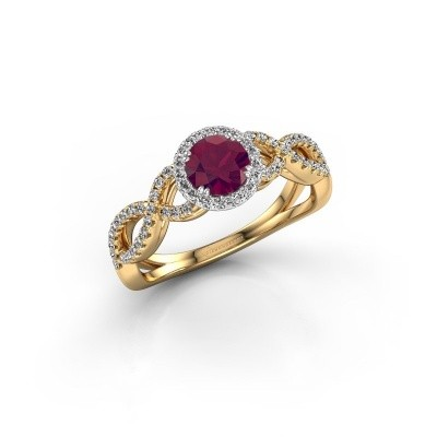Engagement ring Dionne rnd 585 gold rhodolite 5 mm
