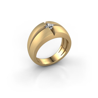 Foto van Heren ring Rens 375 goud zirkonia 3.5 mm