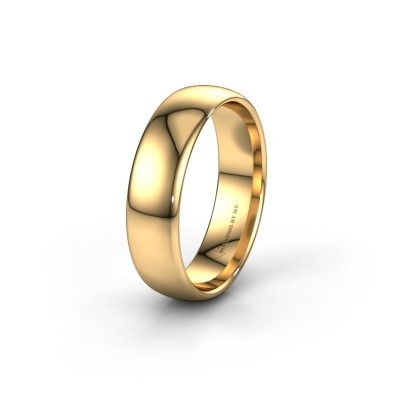 Wedding ring WH0100M36AP 585 gold ±0.24x0.07 in