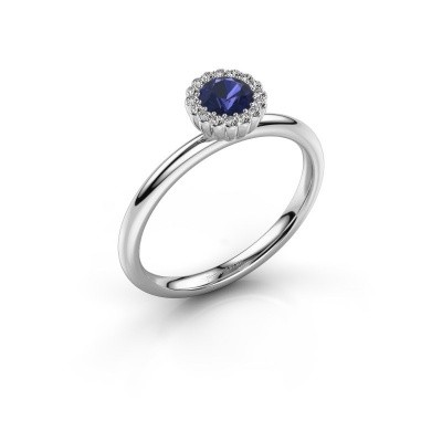 Engagement ring Queen 585 white gold sapphire 4.2 mm