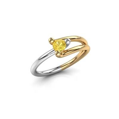 Engagement ring Roosmarijn 585 gold yellow sapphire 4 mm