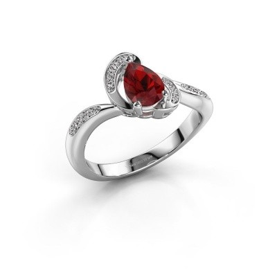 Picture of Ring Jonelle 585 white gold ruby 7x5 mm
