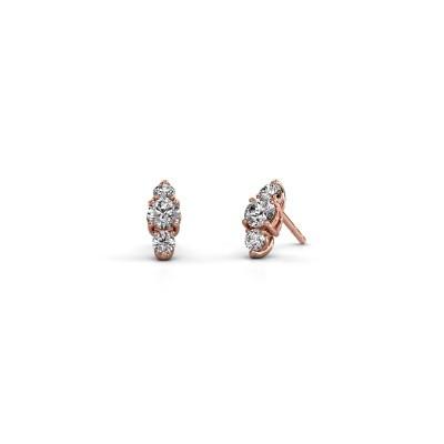 Oorbellen Amie 375 rosé goud diamant 1.20 crt