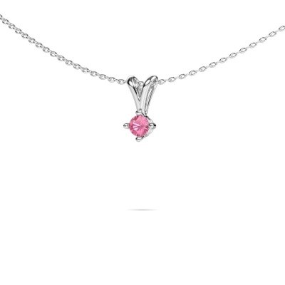 Picture of Necklace Jannette 950 platinum pink sapphire 3.7 mm