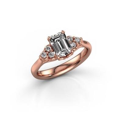 Foto van Aanzoeksring Myrna EME 375 rosé goud lab-grown diamant 1.300 crt