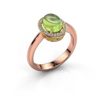 Ring Kristian 585 rose gold peridot 8x6 mm