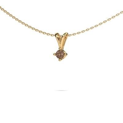 Foto van Ketting Jannette 375 goud bruine diamant 0.20 crt