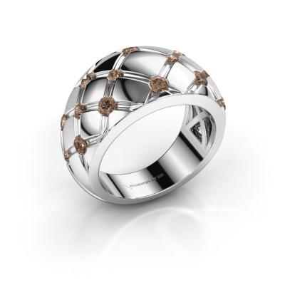 Bague Imke 925 argent diamant brun 0.78 crt